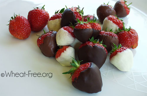 Wheat & gluten free Chocolate Covered Strawberries recipe