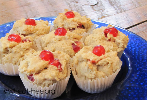 Wheat & gluten free Cherry Muffins recipe