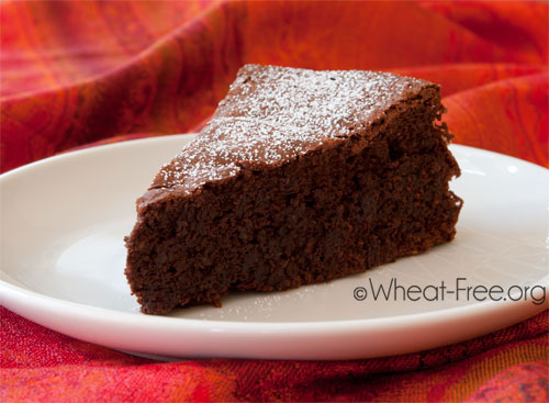 Wheatgluten free Flourless Chocolate Cake recipe
