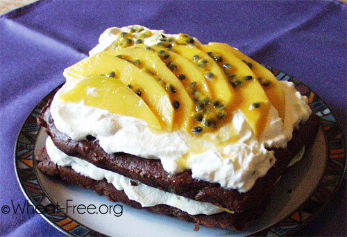 Wheat & gluten free Tropical Fruit Gateau recipe