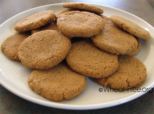 Wheat & gluten free Peanut Butter Cookies recipe #2