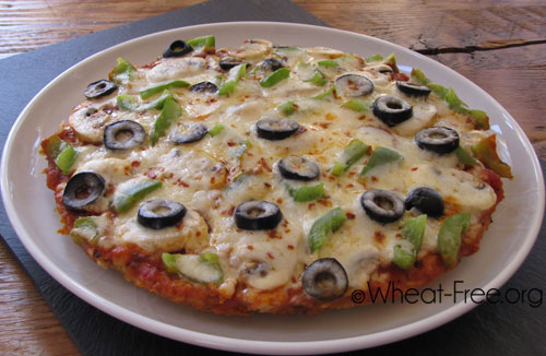 Wheat & gluten free Pizza (rice based crust) recipe