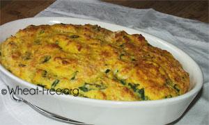 wheat & gluten free spinach & polenta soufflé recipe