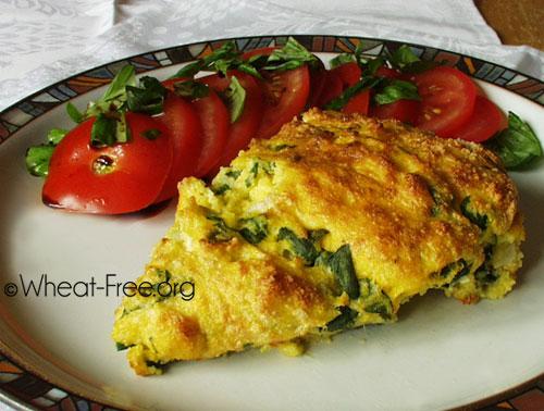 & gluten free spinach & polenta soufflé