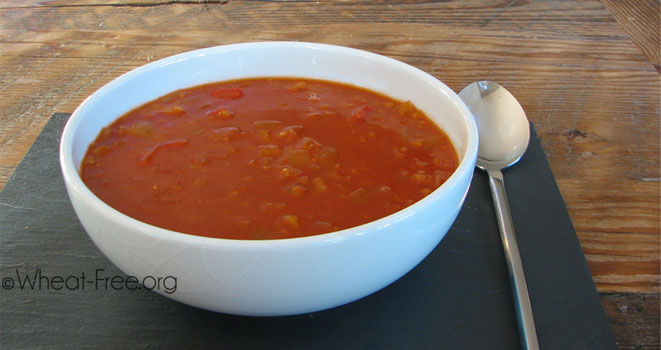 Tomato and Red Pepper Soup (vegan)