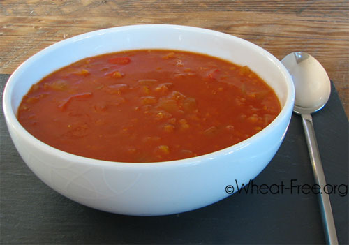 Wheat & gluten free Tomato & Red Pepper Soup recipe