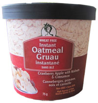 Glutenfreeda instant oatmeal cup product review