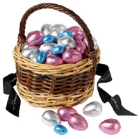 Hotel Chocolat basket of easter eggs