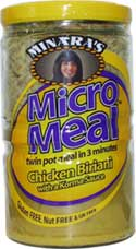 Wheat free and gluten free Chicken Biriani & Korma sauce ready meal