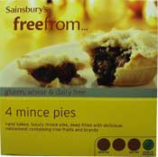 Wheat free and gluten free mince pies
