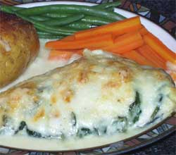 Wheat & gluten free Spinach haddock recipe