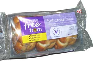 Wheat free and gluten free hot cross buns