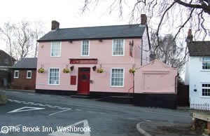 The Brook Inn, Washbrook gluten free pub food