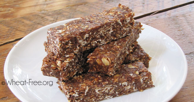 Almond Butter Energy Bars (vegetarian)