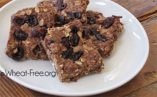 Wheat & gluten free Chocolate protein energy bars recipe