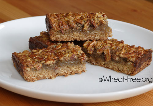 Wheat free Pecan Bars recipe