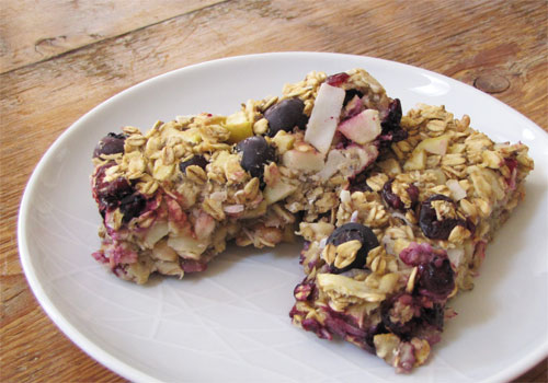 Wheat & gluten free apple berry oat bars recipe