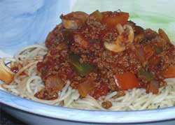 Wheat & gluten free Bison Bolognese recipe