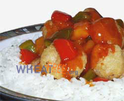 Wheat & gluten free Sweet & sour crispy king prawns recipe