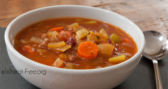 Vegetable bean soup (vegan)