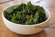 Wheat & gluten free Baked Kale Chips recipe