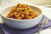 Wheat & gluten free Spicy Chick Peas recipe