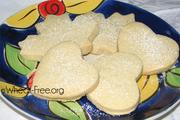 Wheat & gluten free Vanilla Shortbread Cookies recipe