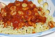 Wheat & gluten free Scallops & Prawns in White Wine & Tomato Sauce recipe